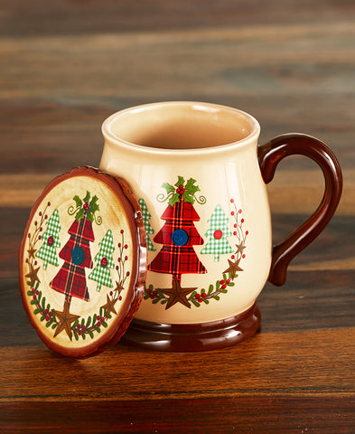 2-Piece Tree Mug & Coaster Set