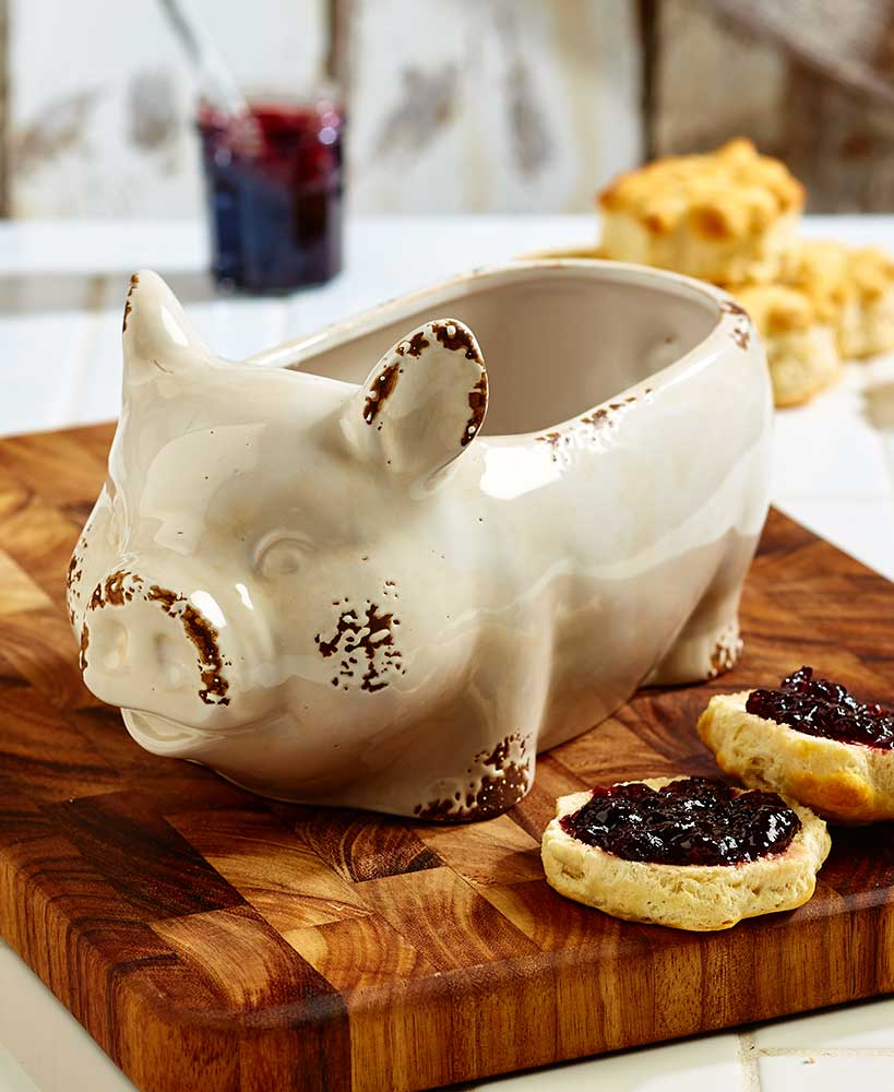 Farmhouse Kitchen Pig Bowl