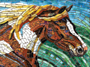 """Stained Glass Horse"" 1000 Pc  Jigsaw Puzzle"