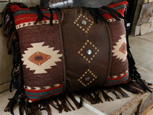 "Load image into Gallery viewer, ""Cimarron"" Western Decorative Pillow - 16"" x 20"""