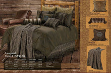 "Load image into Gallery viewer, ""Leopard"" Western 5-Piece Bedding Set - Super Queen"