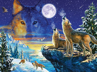 """Howling Wolves"" 1000 Pc  Jigsaw Puzzle"
