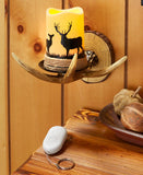 Remote Control Antler Wall Sconce - Choose from 4 Animals!