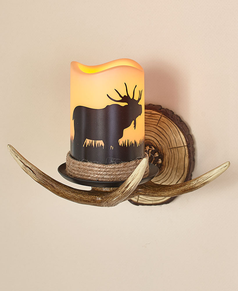 Remote Control Antler Wall Sconce