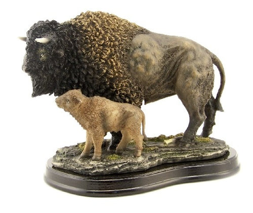 Buffalo with Baby Sculpture