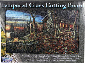 "Cabin Scene Cutting Board - 12"" x 16"""