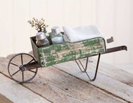 Metal Tabletop Wheelbarrow Kitchen Caddy