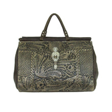 "Load image into Gallery viewer, ""Retro Romance"" Western Leather Duffel Bag - Choose From 3 Colors!"