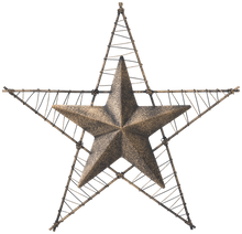 Load image into Gallery viewer, Metal Wire Wrapped Wall Star - 2 Colors Available