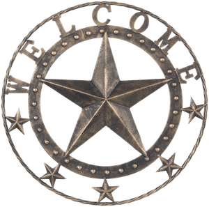 "18"" Metal Star Welcome Wall Plaque - 2 Finishes Available"