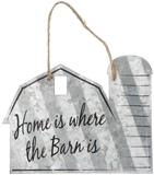 """Home is Where The Barn Is"" Corrugated Barn Metal Sign - 2 Sizes"