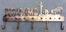 Load image into Gallery viewer, Welcome Wall Hooks with Praying Cowboy