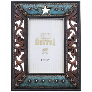 "Star and Scroll Cutout Photo Frame - 4"" x 6"""