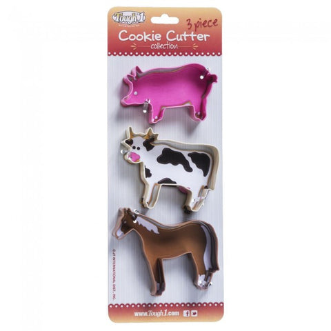 3-Piece Farm Cookie Cutter Collection