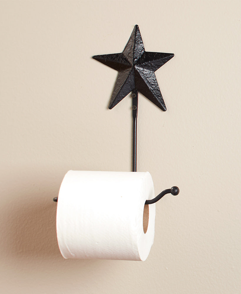 Metal Barn Star Toilet Paper Holder