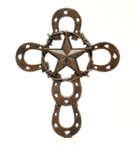 Decorative Horseshoe Wall Cross