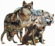 """Wolf Pack""  Shaped 1000 Pc  Jigsaw Puzzle"