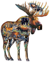 """Walk on the Wild Side""  Shaped 650 Pc  Jigsaw Puzzle"