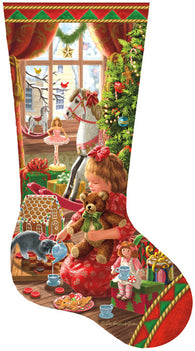"""A Girl's Stocking"" 800 Pc  Jigsaw Puzzle"