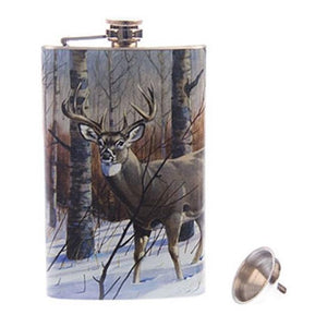 Deer Scene 9 oz Flask