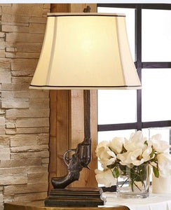 Six-Shooter Western Table Lamp
