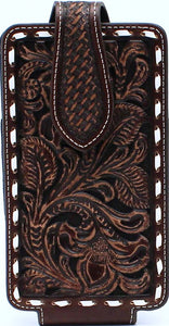 Large Floral Lace Brown Cell Phone Case by Ariat