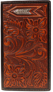 Ariat Arrow Tooled Leather Rodeo Wallet