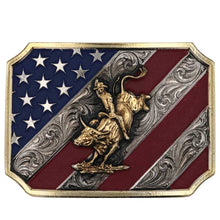 Load image into Gallery viewer, Patriot Bull Rider Buckle