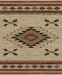 """Arrowhead Antique"" Western Area Rug (4 Sizes Available)"