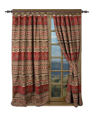 Adirondack Western Drapes with Tiebacks