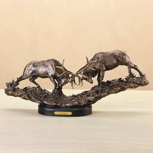 Royal Battle Elk Sculpture