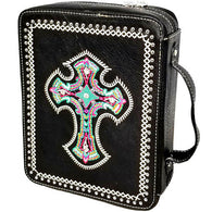 Western Embroidered  Cross Bible Cover - 4 Colors Available!