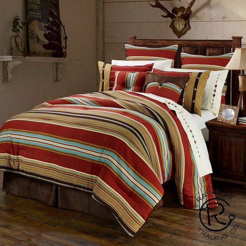 """Montana"" Western 4-Piece Bedding Set - King or Queen"