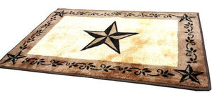 """Chocolate Star"" Western Bath/Kitchen Rug - 2 x 3"