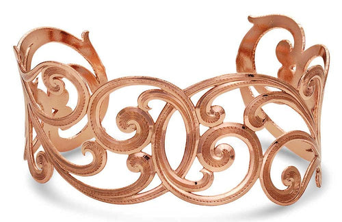 No Boundaries Rose Filigree Scroll Bracelet - Made in the USA!
