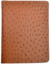 Tan Ostrich Leather Bible Cover