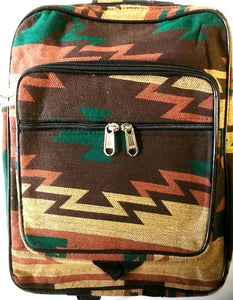 "Southwestern ""Santa Fe"" Style Backpack Green/Brown"