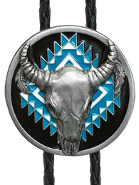 Buffalo Head Indian Bolo Tie -  Made in USA