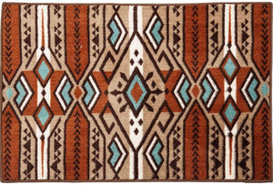 Aztec Stripe Bath/Accent Rug