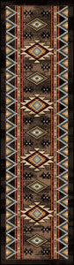 """Bowstrings - Brown"" Southwestern Area Rugs - Choose from 6 Sizes!"