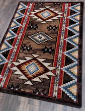 "Load image into Gallery viewer, ""Bowstrings - Brown"" Southwestern Area Rugs - Choose from 6 Sizes!"