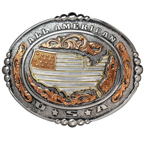 All-American USA Belt Buckle