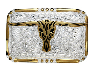 Longhorn Rectangular Belt Buckle