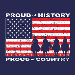 """History"" Cowboys Unlimited Adult T-Shirt - Front Print Only"