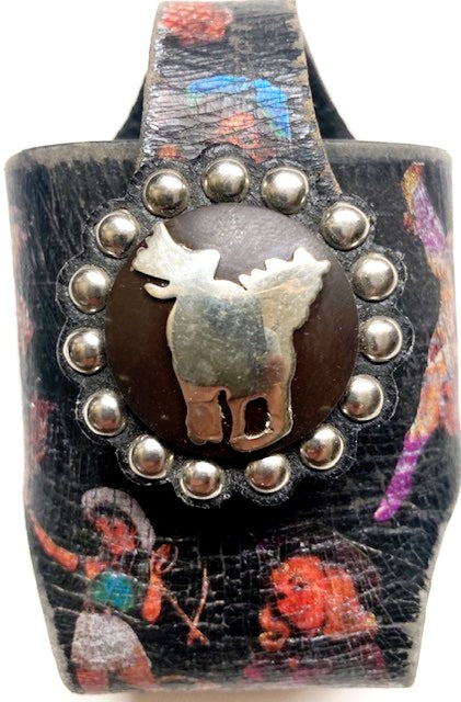 Vintage Cowgirl Western Cellphone (Flip Phone) Holder with Running Horse Concho