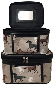 """Free to Roam"" 2-Piece Cosmetic Cases"