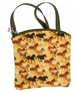 Running Horses Western Crossbody Purse