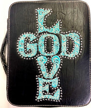 Load image into Gallery viewer, Western Bible Cover with Embroidered LOVE GOD - Choose From 2 Colors!