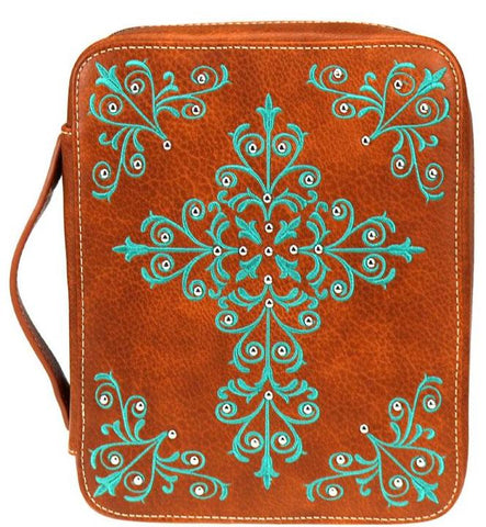 Swirl Cross Bible Cover - Choose From 3 Colors!