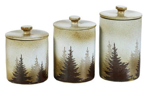 """Clearwater Pines"" 3-Piece Canister Set"